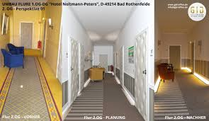 innenarchitektonische umgestaltung fluren im hotel np