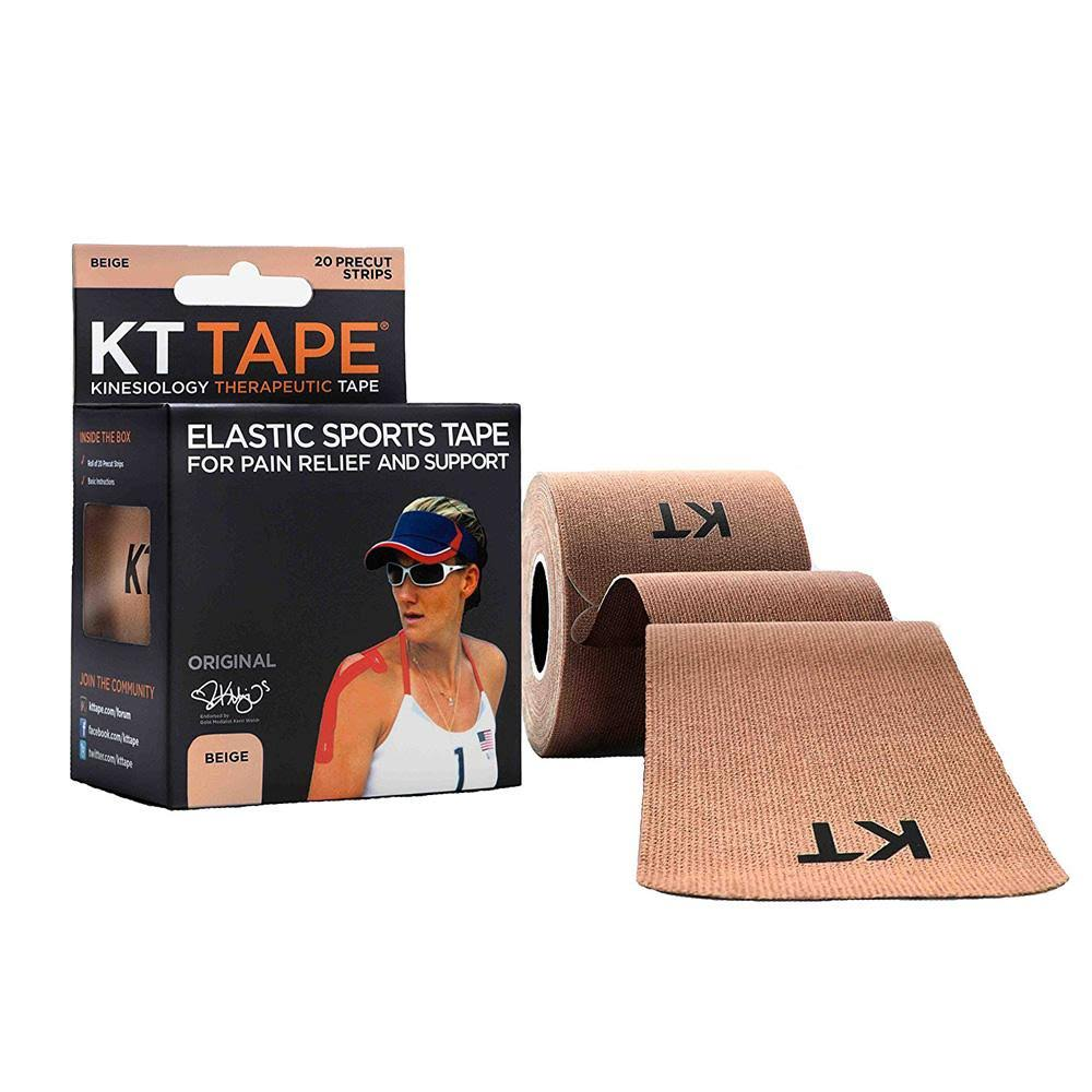 Kinesiology Therapeutic Body Tape - Roll of 20 Strips, Beige