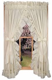Jacobean Floral Country Curtains by Stephanie Solid Color Country Ruffled Priscilla Window Curtains