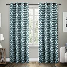 teal curtains for living room amazon com