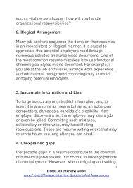 Avoid Resume Mistakes