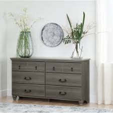 White 3 Drawer Dresser Walmart by South Shore Noble 6 Drawer Double Dresser Gray Maple Walmart Com