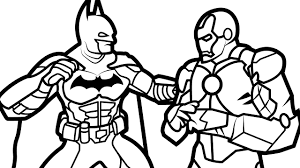 Batman Vs Iron Man Coloring Book Pages Kids Fun Art Best Of