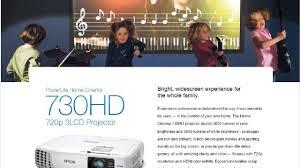 Epson HC730HD PowerLite 720p 3LCD Projector Refurbished