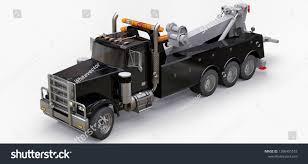 100 Big Black Trucks Cargo Tow Truck Transport Other Stock Illustration Royalty