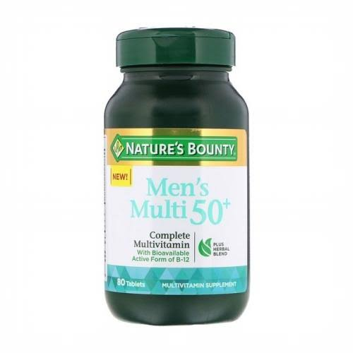 Nature's Bounty Adult Men 50+ Complete Multivitamin - 80ct