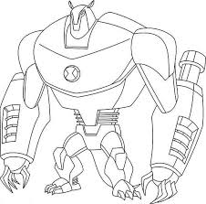Armodrillo From Ben 10 Ultimate Alien Colouring Page Coloring