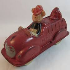 100 Mickey Mouse Fire Truck Walt Disney Rubber Toy In 2018 Vintage For