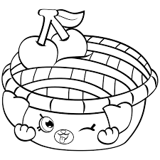 Shopkins Black And White Cherry Pie To Color