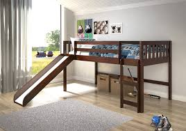 Low Loft Bed With Desk by Amazon Com Donco Trading Company 715 Tcp Dark Cappuccino Twin