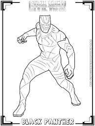 Black Panther Coloring Pages Pictur