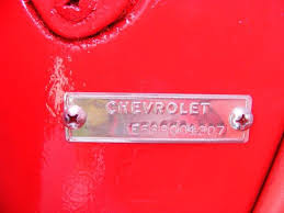 Corvette Restoration Introduction 1955 Chevy Cowl Tag Decoder Image ...
