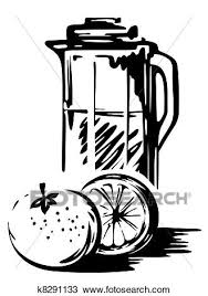 Drawing orange juice Fotosearch Search Clipart Illustration Fine Art Prints