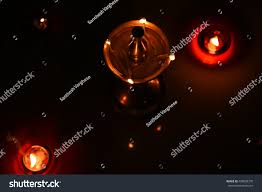 Smoking Lamp Is Lighted by Traditional South Indian Brass Oil Lamp Stock Photo 408508378
