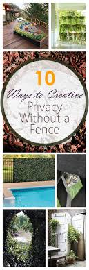 10 Ways To Create Privacy Without A Fence   Yard Privacy, Living ... 20 Awesome Small Backyard Ideas Backyard Design Entertaing Privacy Fence Before After This Nest Is Fniture Magnificent Lawn Garden Best 25 Privacy Ideas On Pinterest Trees Breathtaking Designs And Styles Pergola Fencing For Yards Gate Design By 7 Tall Cedar Fence With 6x6 Posts 2x6 Top Cap 6 Vinyl Fencing Provides Safety And Security Without Fences Hedges To Plant Fastgrowing Elegant