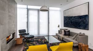 This Is A Fantastic Modern Space With The Colorful Pop Coming From Rug