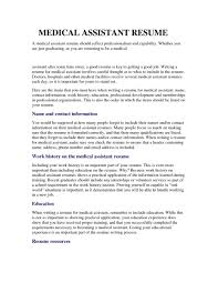 Front Office Job Resume by Front Office Medical Assistant Resume Sample Medical Assistant