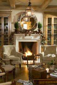 COZY WARM Looking Living Room Decorating Festive Christmas On Fireplace