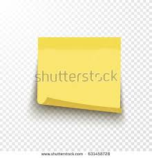 Yellow Vector Sticky Note Curled Corner Stock Vector