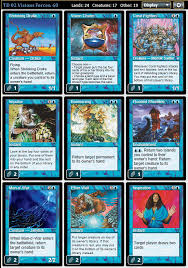 mtg merfolk deck legacy magic the gathering adventures legacy visions forces