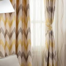 and gray chevron jacquard chenille thermal country curtains