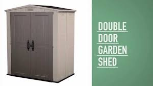 6x5 Shed Double Door by Keter Factor 6x3 Shed Youtube