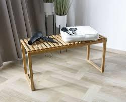 bambus sitzbank bank holz ablagebank für badezimmer
