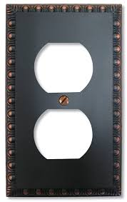 Tuscan Decorative Wall Plates by Amertac 90dvb Amerelle Egg U0026 Dart 1 Duplex Outlet Wallplate Aged
