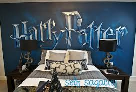 Harry Potter Bedroom Wall Mural Idea