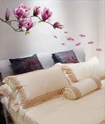 wandaufkleber wandtattoo wandsticker groß blumen magnolie