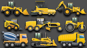 Learning Construction Vehicles For Kids - Construction Equipment ...