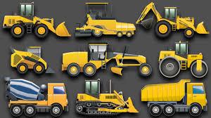100 Construction Trucks Learning Vehicles For Kids Equipment Bulldozers Dump Excavators