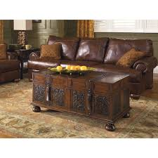 Traditional Dark Brown Norcastle Sofa Table by Signature Design By Ashley Mckenna Cocktail Table Walmart Com