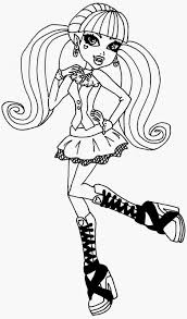 Free Printable Frankie Stein Monster High Colouring Pages For Girls