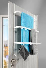 metall tür aufbewahrung weiß matt ohne bohren handtuchhalter mit 4 haken 3 stangen hängeregal universell passend für alle gängigen türen