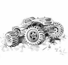 Monster Truck #13 (Transportation) – Printable Coloring Pages