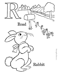 Farm Alphabet Coloring Pages Free Printable Letter R Pre K ABC Featuring Kids Page Sheets