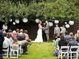 Ideas Modern Concept Backyard Wedding With Ceremony Decor