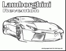 Terrific Cars Coloring Pages With Police Car And Lamborghini