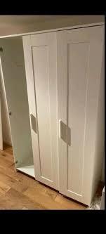 ikea brimnes kleiderschrank schrank schlafzimmer 3 türig weiß