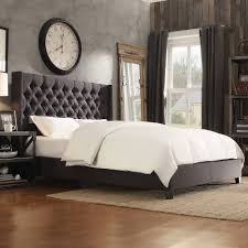 Roma Tufted Wingback Bed King by Leather Wingback Platform Bed Brookby Place Upholstered Platform