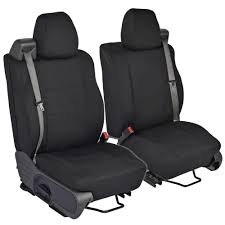 Black Front Pair Custom Seat Covers For Ford F-150 04-08 Integrated ...