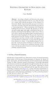100 Natural Geometry PDF In Descartes And Kepler