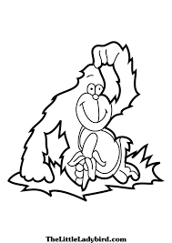 Coloring Pages Animals Gorilla With Page