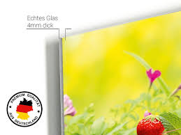 wandbilder glas garten grazdesign bilder auf glas sommer