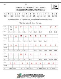 Halloween Multiplication Worksheets Grade 5 by Fun 6th Grade Math Worksheets Worksheets For Toribeedesign