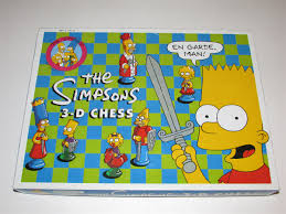 The Simpsons 3 D Chess Vintage Board Game In Box