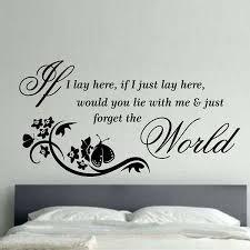 wandaufkleber wand deko wohnzimmer if i lay here home