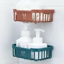 details zu kunststoff duschregal ohne bohren badezimmer küche wand lagerregal duschablage