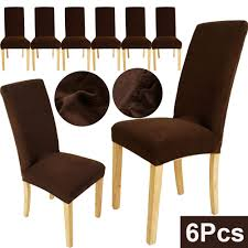 6pcs Quality Super Fit Stretch Short Dining Room Chair Cover ... Make Ding Room Chair Slipcovers Kokoazik Home Designs Amazing Black Faux Leather High Back Chairs Armed Ding Room Chair Covers Design Grey Velvet Cover Jf Covers Removable An Easy Diy That You Sure Fit Stretch Pique Short For Royals Courage Create Your Eating Brown Pool Dark Fniture Seat Elegant Look Of Parson With 57 Strong Protectors Clear Gorgeous Leg Vinyl Plastic Caps